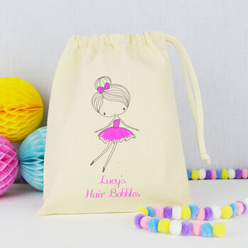 Personalised Girls Hair Bobbles Accessory Bag