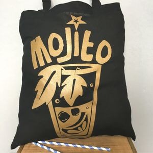 Mojito Gold Beach Bag - bags