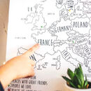 Personalised Europe Pin Board Map With Pins
