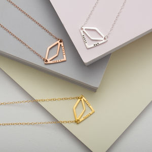 Personalised Diamond Geometric Necklace - necklaces & pendants