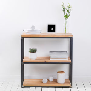 Character Oak Industrial Style Bookcase - furniture