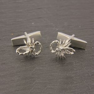 Scorpion Cufflinks In Sterling Silver
