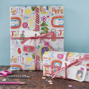 Joy to the world wrapping paper with tags