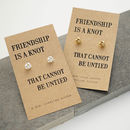 Friendship Knot Silver Earrings Standard and Gold Size Comparison