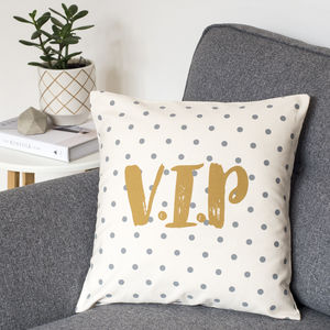 Funny Spotty Cushion Cover For V.I.Ps - housewarming gifts