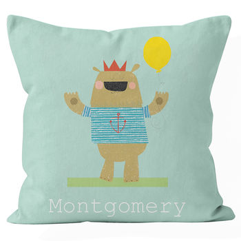 Personalised Bear Cushion
