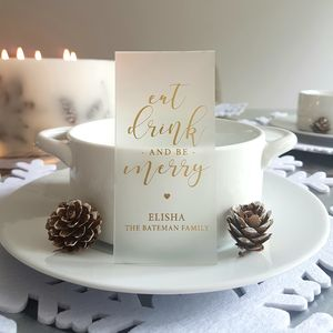 Festive Christmas Personalised Table Place Setting