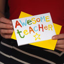 'Awesome Teacher' Thank You Card