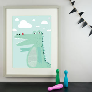 Mr Croc Children's Nursery Print - gifts for babies
