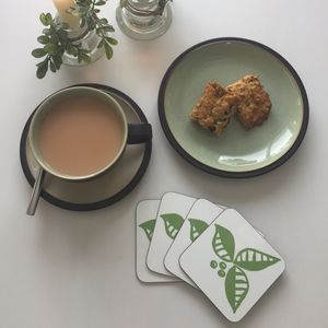 Leaf And Berry Coaster Set - placemats & coasters