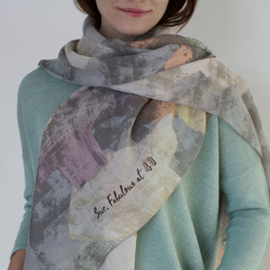 Personalised Abstract Spring Scarf - scarves