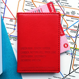 Favourite Destinations Oyster Travel Card Cover - passport & travel card holders