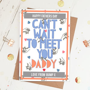'From Bump' Fathers Day Card