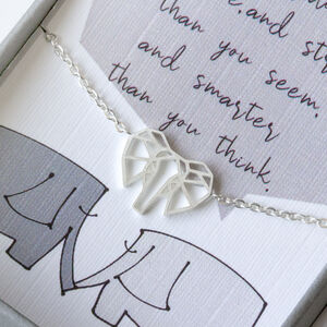 Geometric Elephant Head Necklace