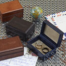 Personalised Leather Travel Cufflink Box