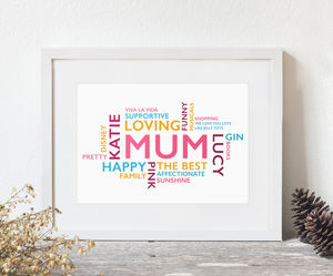 Personalised Word Cloud Print - posters & prints
