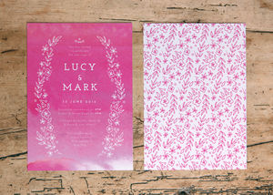 Quartz Watercolour Wash Wedding Day Invitations - wedding stationery