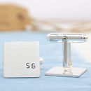 Personalised Silver Square Wedding Cufflinks