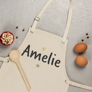 Personalised Childs Apron, Stars - children's cooking