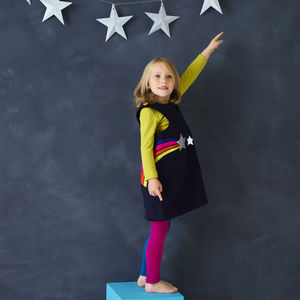 Star Gazer Pinafore Dress - dresses