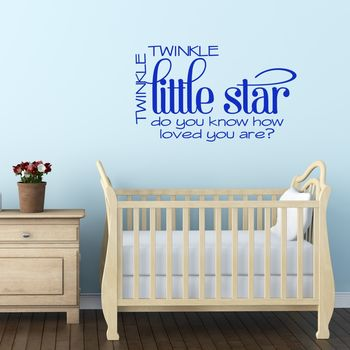 Twinkle Little Star Quote Wall Sticker
