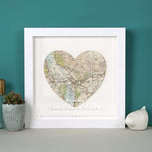 Personalised Map Location Heart With Etched Glaze - personalised