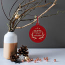 Personalised 'Santa Stop Here' Family Christmas Bauble