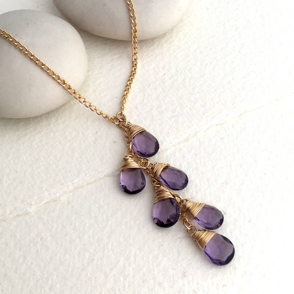 amethyst necklace leah jewellery products isabel alexandra
