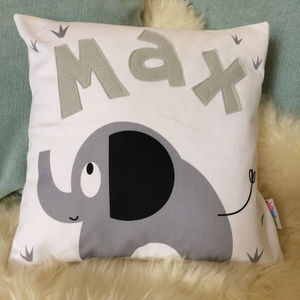Personalised Children's Elephant Cushion - children's cushions