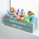 Personalised Kids Wooden Bathroom Crate