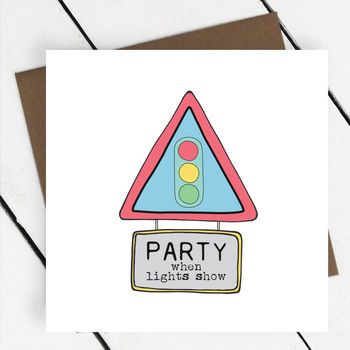 Party When Lights Show Greeting Card