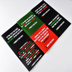 Pack Of Six Brutally Honest Christmas Cards - cards