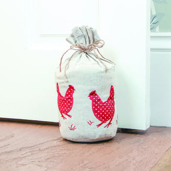 Traditional Farmhouse Hen Sack Door Stop