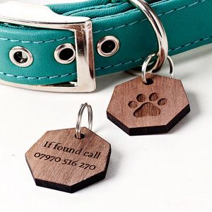 Personalised Paw Pet Tag - dog tags & charms