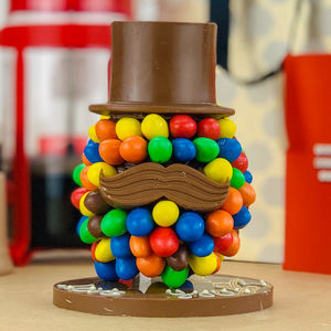 M And M's Peanut Chocolate Head With Hat And Moustache