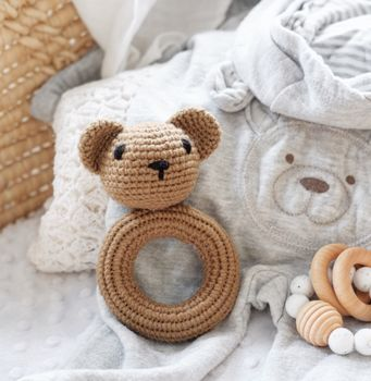 Soft Crochet Bear Rattle Toy