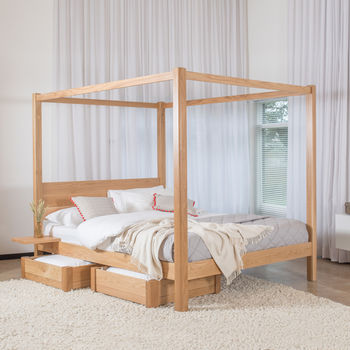 Wooden Four Poster Bed Frame Classic