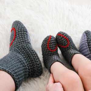 Mummy And Me Handmade Heart Slipper Socks - baby & child sale