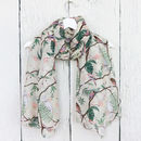Botanical Bird Print Scarf