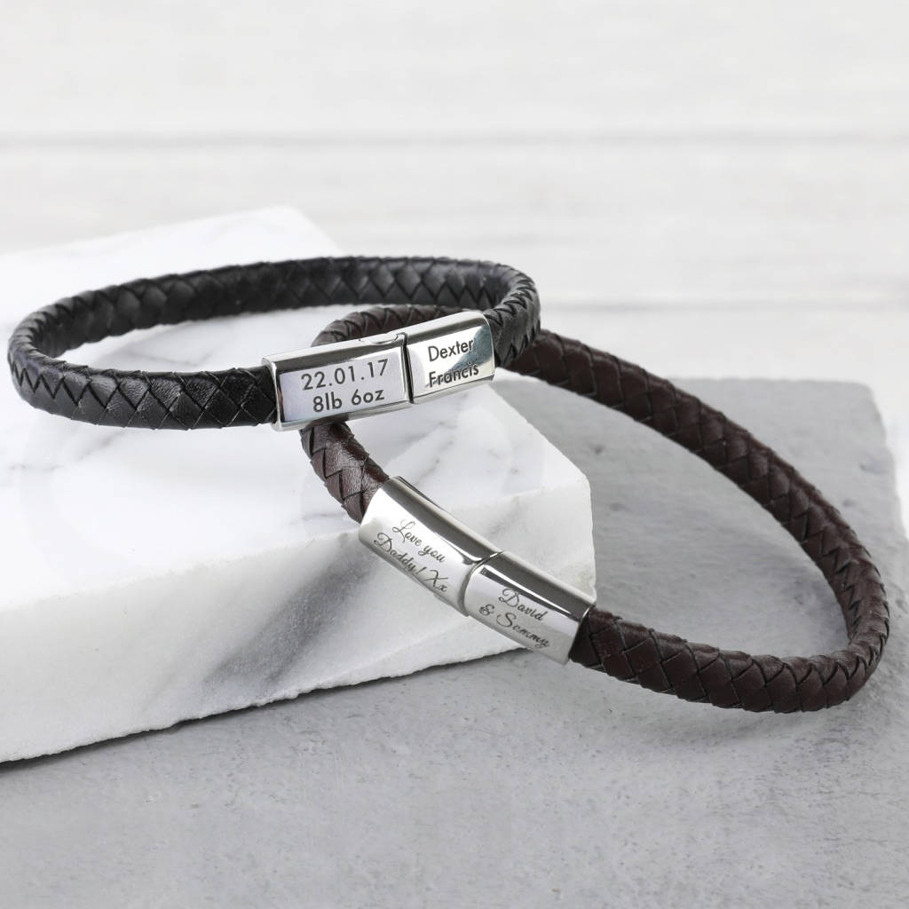 mens bracelet s hilfiger black wrap men tommy leather image double jewellery