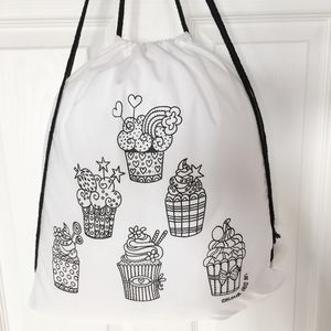 Colour In Pe Bag With Cupcakes