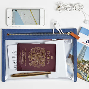 Luxury Clear View Travel Wallet
