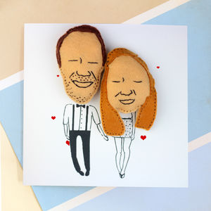 Personalised Valentine Couple Magnet Keepsake Card
