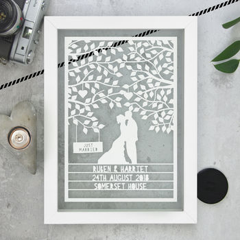 Personalised Wedding Anniversary Papercut
