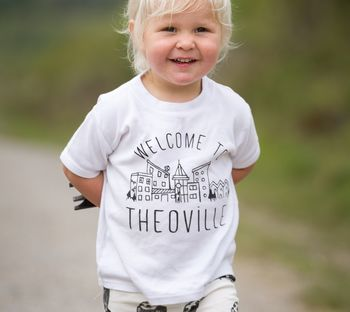 Personalised Town 'Welcome To' T Shirt