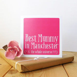 Personalised Best Mum/Mummy/Mother Card - new in mother's day