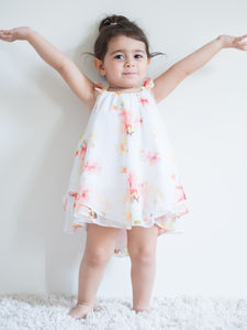 Floral Printed Baby Girl Dress - clothing