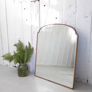 Vintage Mirror Bevel Edged Deco Scalloped Mirror - bedroom
