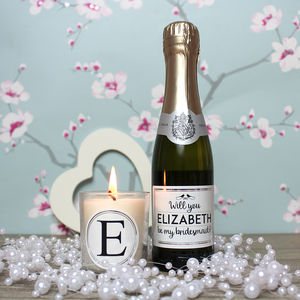 Will You Be My Bridesmaid? Prosecco And Candle Gift Set - be my bridesmaid?