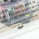 Personalised Super Hero Dad Photo Box Frame